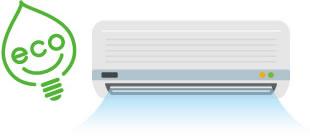 冷房消費電力 30〜40%削減